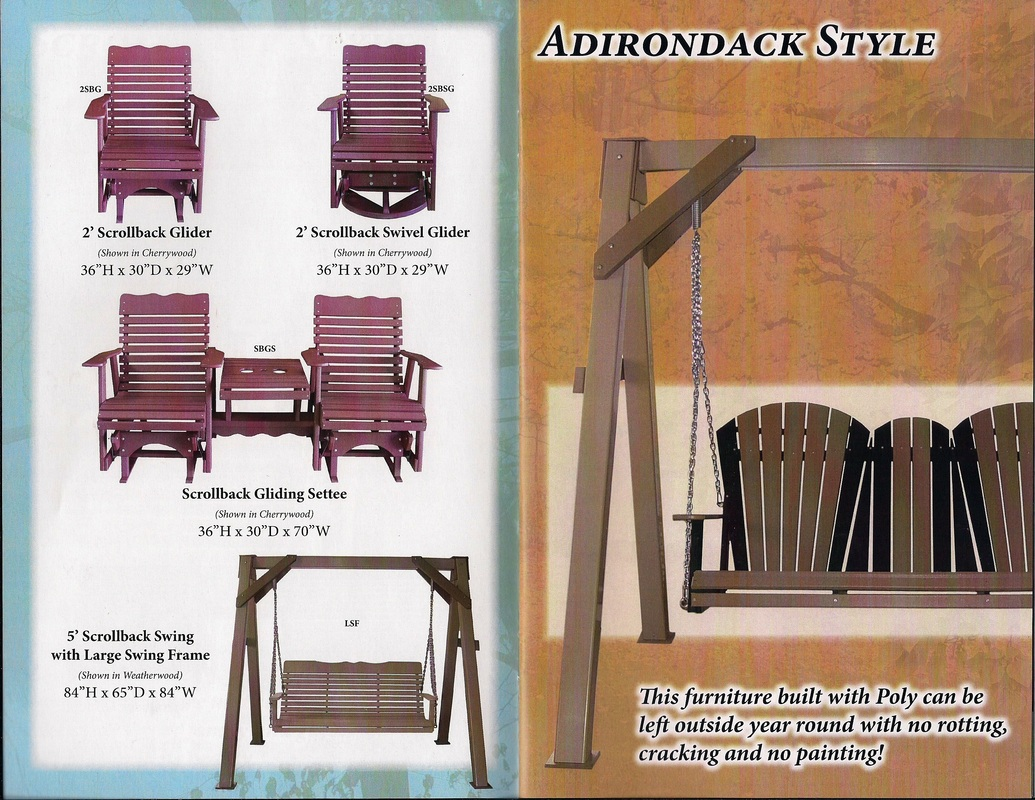 adirondack style swings and gliders
