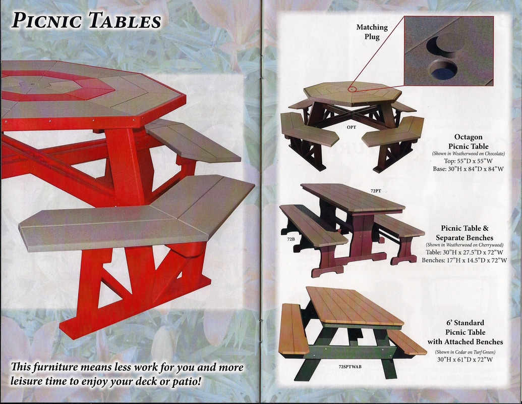 poly-furniture picnic tables