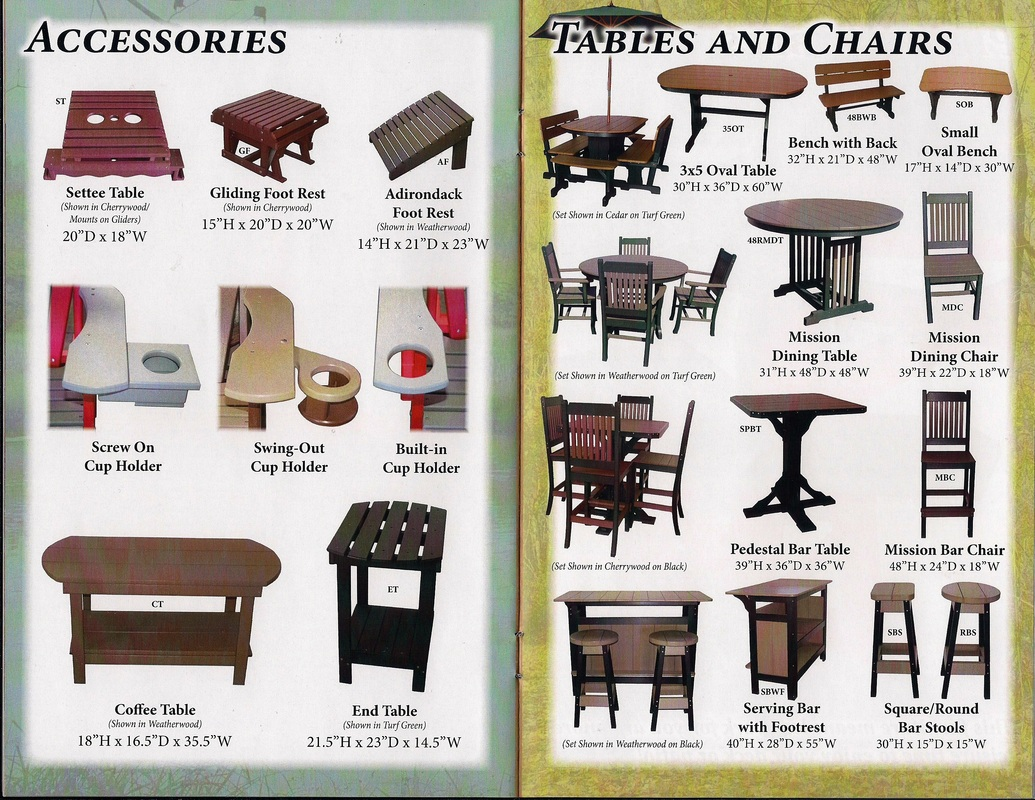 poly-furniture tables and chairs